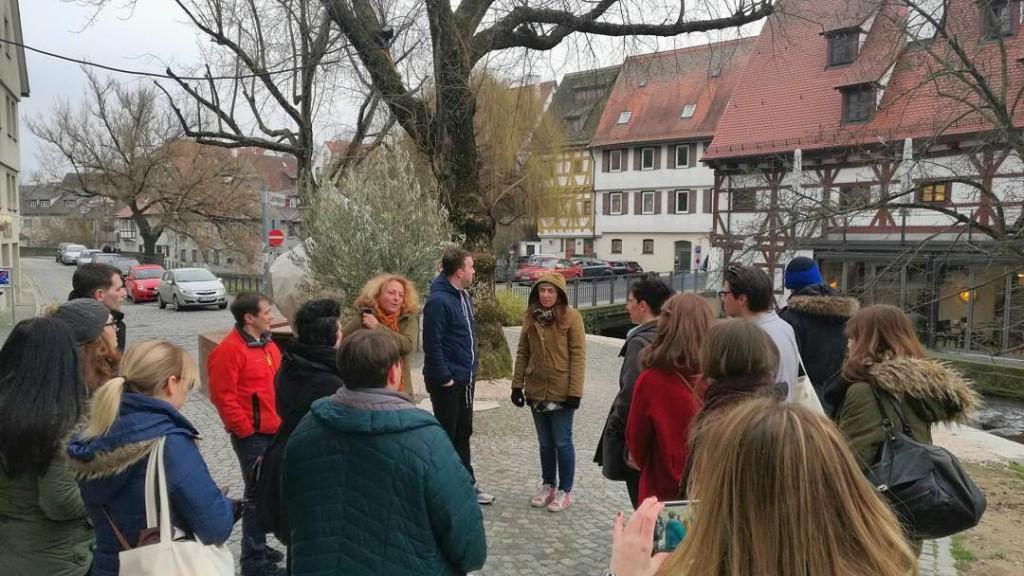 Ulmer Bloggertreffen Fuehrung Gabi